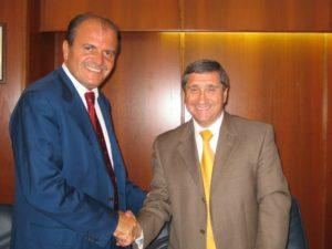 l'assessore De Angelis e il Presidente della Regione di York, Bill Fisch