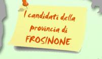 I candidati della provincia di Frosinone