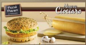 panino McDonalds con formaggio tipico.