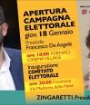 Regionali, De Angelis: si vince con Zingaretti e sostegno a Buschini e Battisti